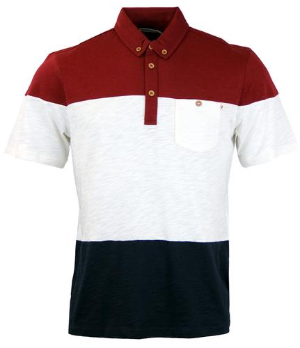 FARAH 1920 RETRO WIDE STRIPE SLUB POLO