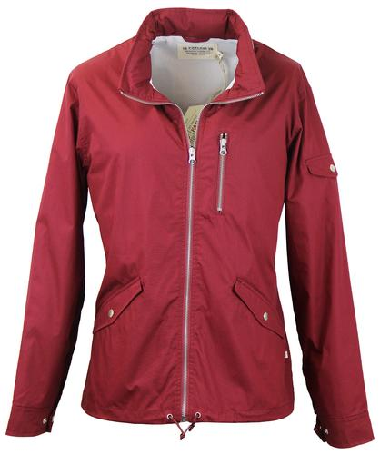 FARAH 1920 RETRO INDIE WINDBREAKER JACKET CABERNET