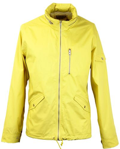FARAH 1920 RETRO INDIE WINDBREAKER JACKET GOLD