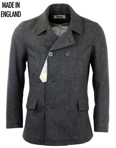 FERGUSON RETRO MOD PEACOAT REEFER COAT GREY
