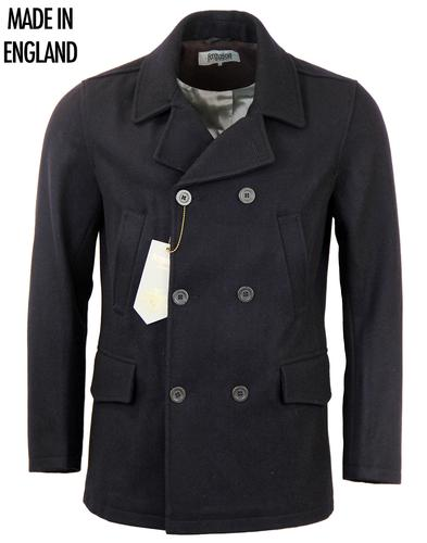 FERGUSON RETRO MOD PEACOAT REEFER COAT INK