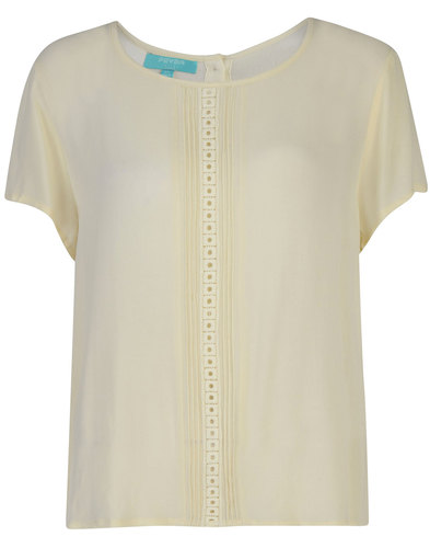 Fever Retro Mod Vintage Alicia Blouse Cream
