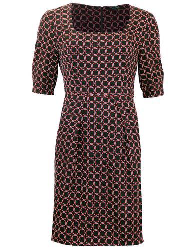 FEVER DRESSES RETRO MOD SQUARE NECKLINE DRESS