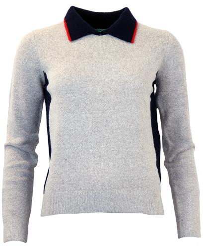 FEVER RETRO MOD 60s COLLAR POLO JUMPER