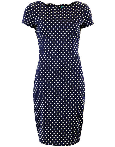 fever millie retro 60s mod polka dot scallop dress