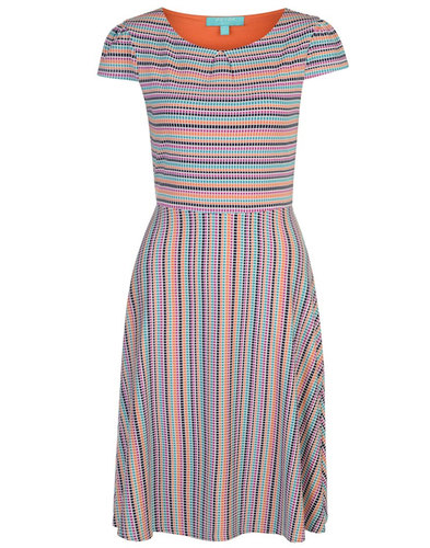 Fever Retro 60s Fit and Flare Dress Tobago