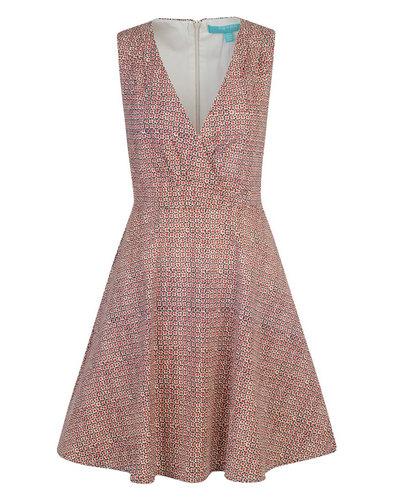 Seurat FEVER Retro 60s Geo Print V-Neckline Dress