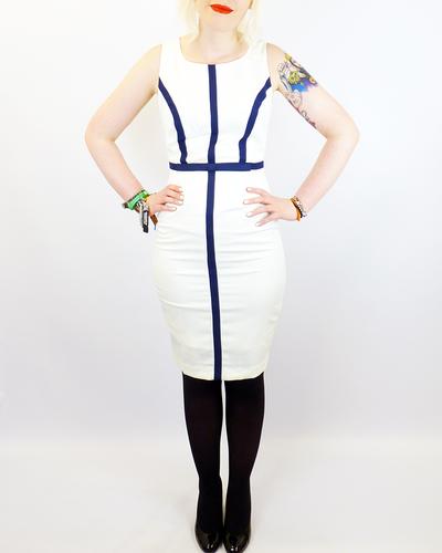 FEVER DRESSES NEW YORK DRESS WHITE RETRO VINTAGE