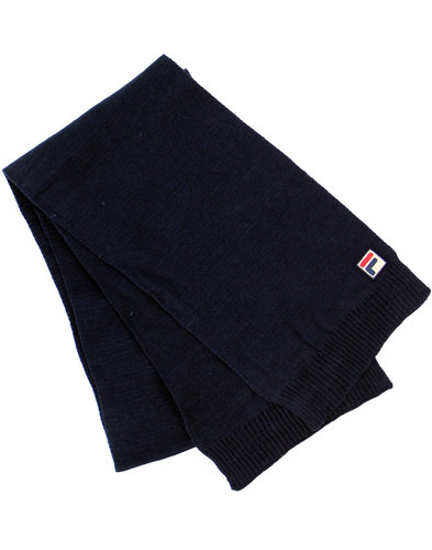 fila vintage righi retro 1970s knit scarf peacoat