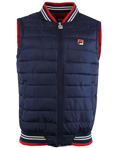 fila vintage canapine retro 1970s padded gilet