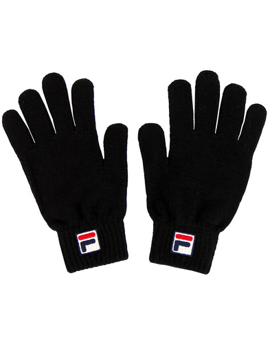 fila geti knitted gloves blsck