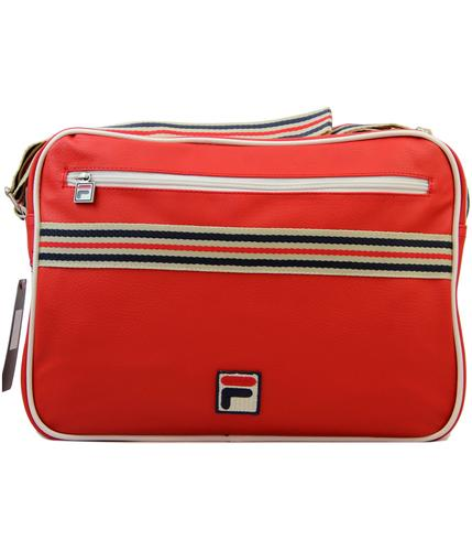FILA VINTAGE RETRO MOD 70s FLIGHT BAG RED