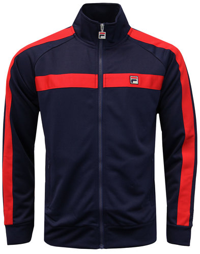 Renzo FILA VINTAGE Retro 80s Stripe Track Jacket P