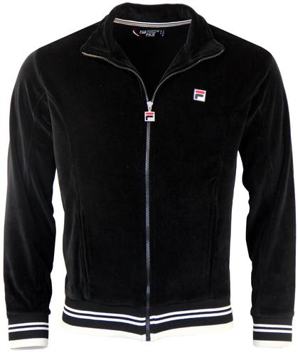 FILA VINTAGE BARTALI RETRO VELOUR TRACK TOP BLACK