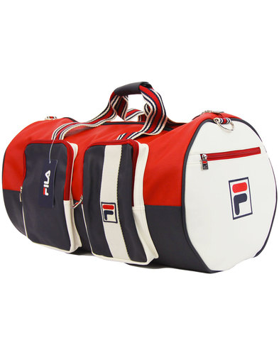 fila vintage astorre retro weekender barrel bag