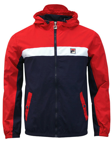 Clipper FILA VINTAGE Colour Block Hooded Jacket