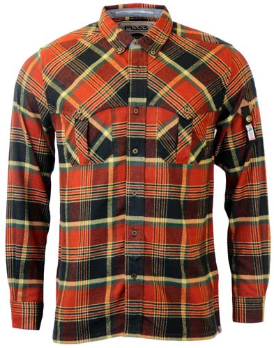 FLY53 THOROS RETRO 70s INDIE FLANNEL CHECK SHIRT