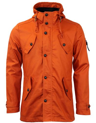 FLY53 BURTON RETRO INDIE MOD FISHTAIL PARKA RUST