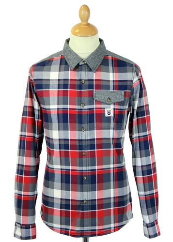 FLY53 FLY 53 RETRO MOD INDIE CHECK SHIRT