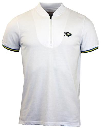 FLY53 FLY 53 RETRO MOD CYCLING TOP WHITE