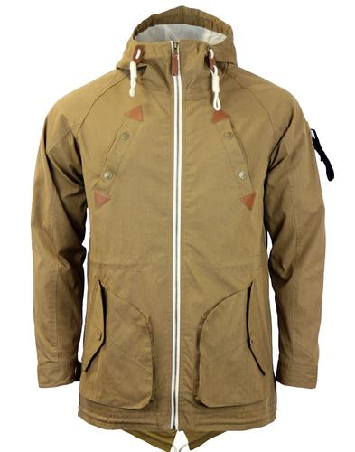 FLY53 FLY 53 RETRO MOD FISHTAIL PARKA BROWN