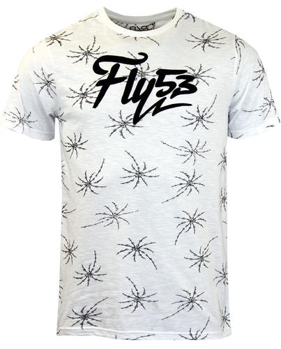 FLY53 FLY 53 RETRO MOD BONE PALM T-SHIRT