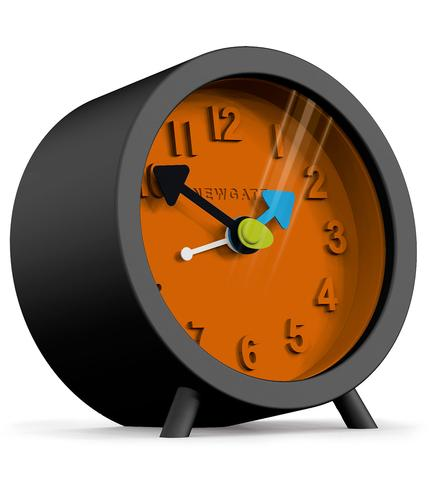 NEWGATE CLOCKS RETRO 60s FRED ALARM CLOCK BLACK