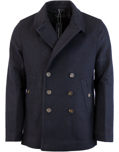 FRENCH CONNECTION Retro Mod Melton Peacoat