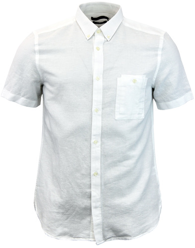 FRENCH CONNECTION Retro Soft Cotton Linen Shirt