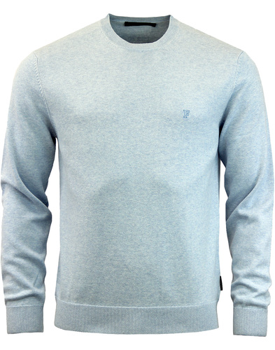 french connection cotton knit jumper blue