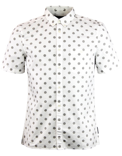 french connection big polka dot shirt white