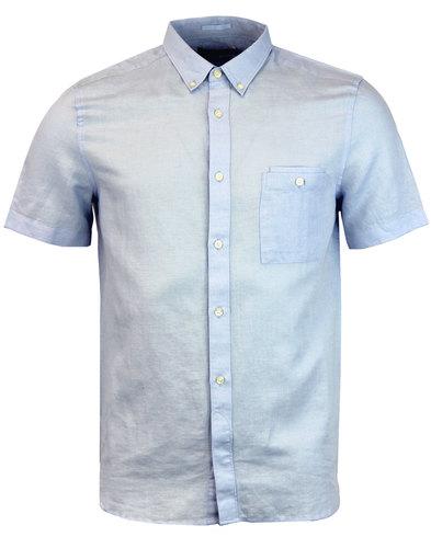 FRENCH CONNECTION Retro Mod Cotton Linen Shirt KC