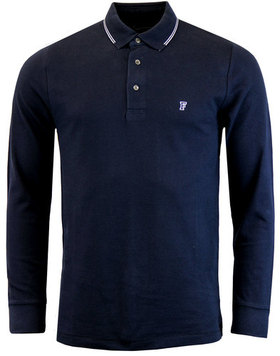 french connection retro twin tip ls polo marine