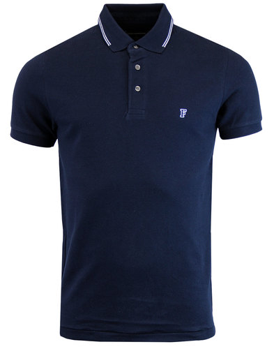 french connection retro twin tipped ss polo marine