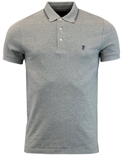 french connection retro mod twin tip ss polo grey