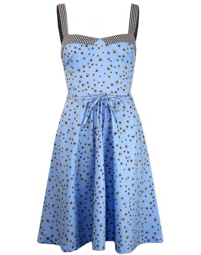 FRIDAY ON MY MIND RETRO MOD PROM DRESS BEES