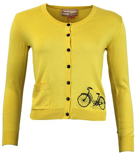 FRIDAY ON MY MIND RETRO MOD 50s BIKE CARDIGAN