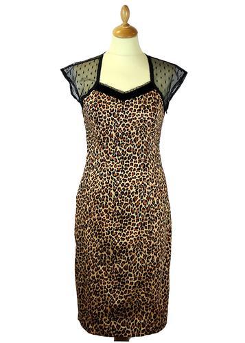 FRIDAY ON MY MIND RETRO MOD KITTY PENCIL DRESS