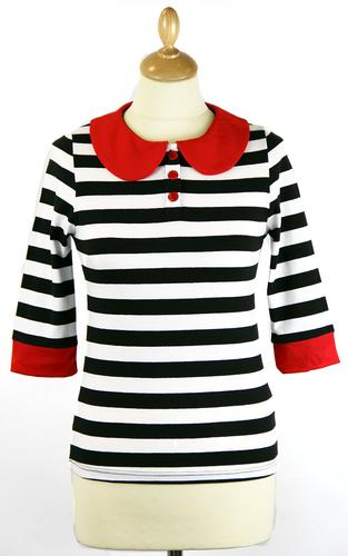 FRIDAY ON MY MIND RETRO 60s MOD STRIPEY TOP MOD