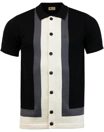 Angelo GABICCI VINTAGE Mod Stripe Polo Cardigan B