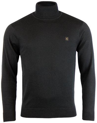 gabicci vintage retro mod roll neck jumper black