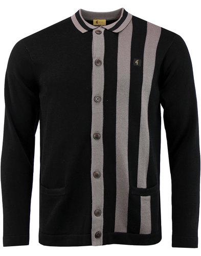 Boom GABICCI VINTAGE Mod Stripe Polo Cardigan BL