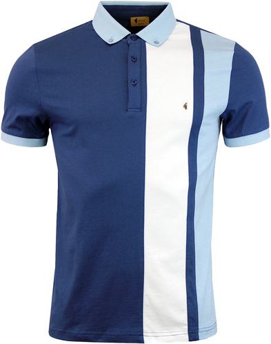 gabicci dawson racing stripe polo ocean