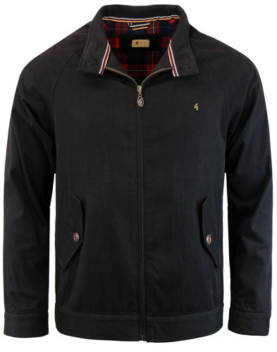 gabicci vintage retro mod harrington jacket black