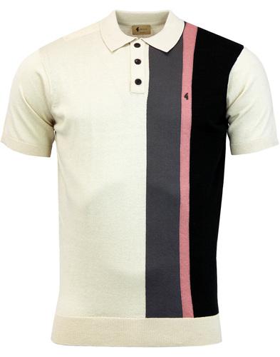 Marco GABICCI VINTAGE 60s Mod Stripe Knit Polo