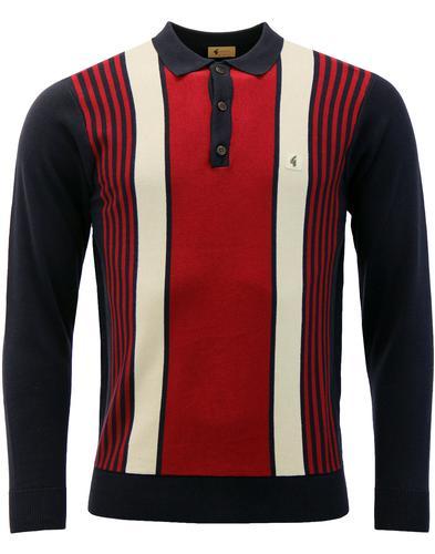 qgabicci vintage searle multi stripe polo navy