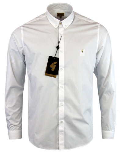 gabicci vintage 1960s mod stud collar shirt white