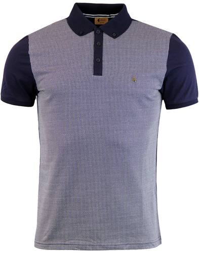 Tyne GABICCI VINTAGE Retro Jacquard Panel Polo N