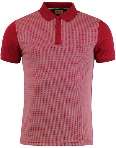 Tyne GABICCI VINTAGE Retro Jacquard Panel Polo