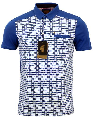 GABICCI VINTAGE RETRO MOD 60S ART DECO POLO SHIRT